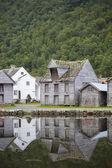 Nordic Fishing Houses — Stock Photo