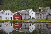 Nordic Fishing Houses — Stock Photo