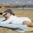 Baby at the beach — Stock Photo #14169140