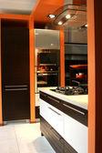 Kitchen luxury home — Stock Photo
