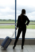Waiting for a plane — Stock Photo
