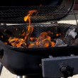 Grill flame - Stock Photo