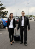 Couple at the airport — Stock Photo