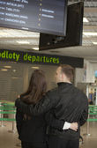 Passenger waiting for the flight — Stock Photo