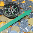 Renminbi and compass - Lizenzfreies Foto