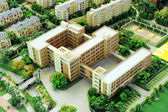 Real estate Building model — Stock Photo