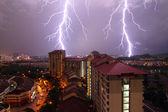 Lightning strikes — Stock Photo
