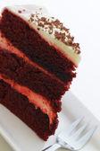 Slice of raspberry cake — Stock Photo