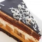 Chocolate banana cheesecake — Stock Photo