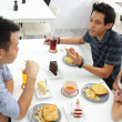 Friends chatting over lunch — Stock Photo #30905953