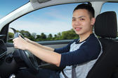 Man driving — Stock Photo