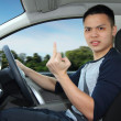 Angry man driving — Stock Photo