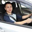 Stock Photo: Young man driving