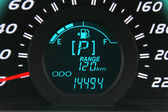 Digital fuel gauge — Stock Photo