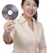 Woman with DVD — Stock Photo #4269835
