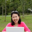 Woman with laptop — Stock Photo #5160778