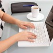 Woman with laptop — Stock Photo #5353791
