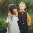 Royalty-Free Stock Photo: Portrait of a little boy and girl couple