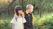 Portrait of a little boy and girl — Stock Photo