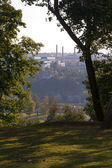 View of the city from afar — Stock Photo