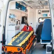 Equipment in the medical unit of a car - Stock Photo