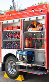 The rescue and firefighting truck equipment — Stock Photo
