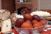 Different colorful eggs, happy holiday — Stockfoto