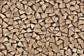 Texture of wood on the woodpile — Stock Photo