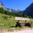 Benches in the bavarian alps — Photo