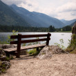 Benches in the bavarian alps — Stok fotoğraf