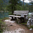 Benches in the bavarian alps — Zdjęcie stockowe