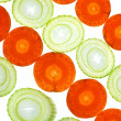 Sliced Vegetables on white — Stock Photo
