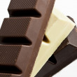 Black, Brown and White Chocolate — Foto de Stock