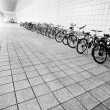 Bike parking area — Stock Photo
