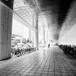 Bike parking area — Foto Stock