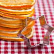 Orange and Cookie Cutter — Stock Photo
