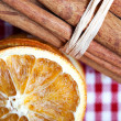 Orange and Cinnamon — Stock Photo