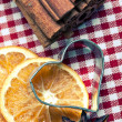 Orange Cinnamon and Anise — Stock Photo