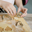 Making Christmas Cookies — Stock Photo