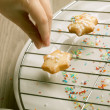 Making Christmas Cookies - Stock Photo