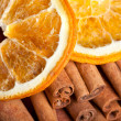 Orange with Cinnamon and Anise — Stock Photo