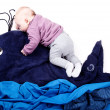 Baby on Whale — Stock Photo