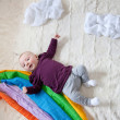 Baby and Rainbow — Stock Photo