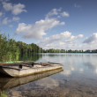 Boat on Lake — Stock Photo