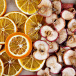 Dried Apple and Orange — Stock Photo