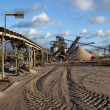 Open pit mining for sand and gravel - Stock Photo