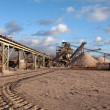 Open pit mining for sand and gravel — Stock Photo