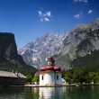 St. Bartholomae at the Koenigssee — Stock Photo