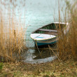 small rowboat in a lake — Stock Photo