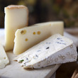 Cheese and Grissini - Stock Photo